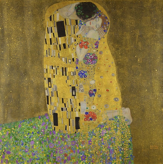 """The Kiss,"" which debuted in 1908, is now part of the Österreichische Galerie Belvedere collection in Vienna."