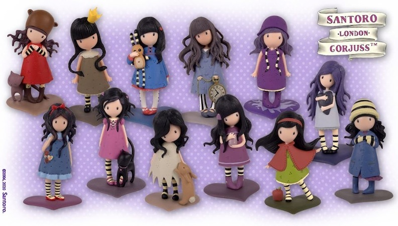 New for 2020, a dozen miniature Gorjuss Girl dolls that come with mini booklets filled with recipes, crafts, and games. Produced by Planeta Deagostini, and licensed by Santoro, each of the dolls has its own unique scent.