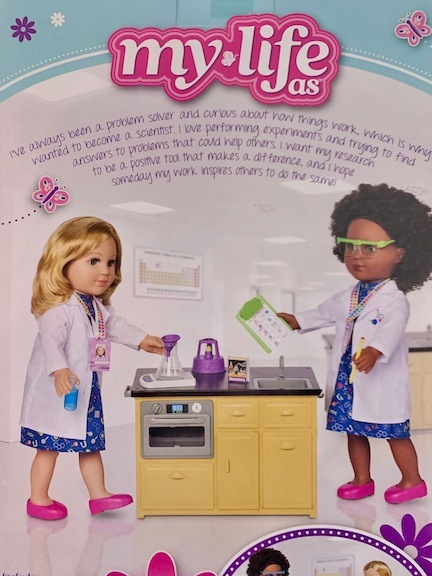 My Life As created this ad for their Scientist dolls and playset.