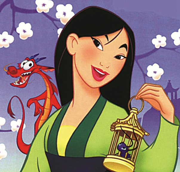 In the Disney cartoon, released 22 years ago, Mulan had a quick-witted companion named Mushu, voiced by Eddie Murphy. Film stills courtesy of The Walt Disney Company/ABC Entertainment Division