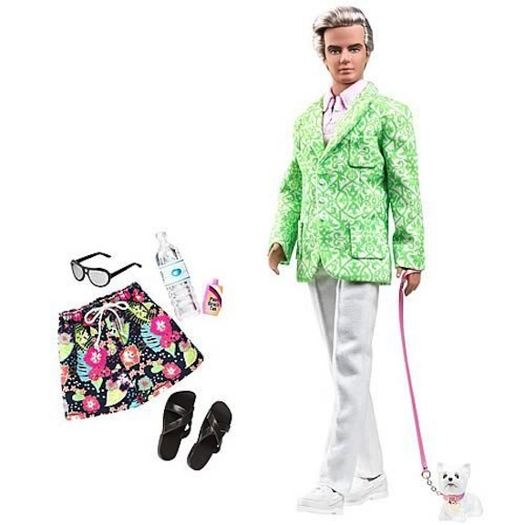 Part of the Palm Beach line, Sugar Daddy Ken raised eyebrows, until Mattel revealed that his dog's name was Sugar.