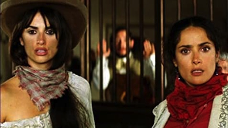 "It's been said that even cowgirls get the blues! But Penelope Cruz (left) and Salma Hayek provide action and laughs in 2006's ""Bandidas."" Courtesy of Movie Star News"