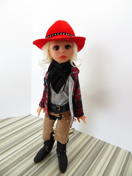 Austin is one of Moulton's new cowgirl heroines. The resin BJDs all stand 16 inches tall.