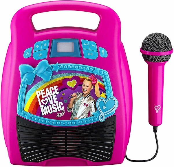 Your children can live the dream! Nickelodeon has a Karaoke machine for the singing stars in your living room.