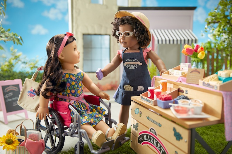 American Girl's City Market Stand lets children act out both consideration and commerce.