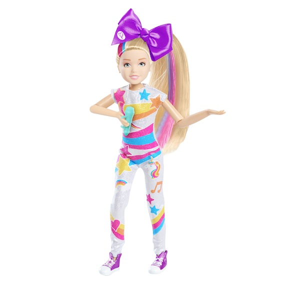 "The 10-inch fashion doll from Nickelodeon sings JoJo's signature song, ""Boomerang."" Designed for ages 6 and above, it is priced at under $20. It is sold at Amazon, Kohl's, Target, Walmart, and Meijer."