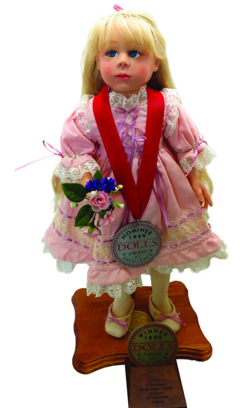 """Abby is the first doll that Moulton entered into the DOLLS Awards of Excellence competition, and she won. """"This was in 1999, and I made her for Heartland Mint for Home Shopping Europe. I still have this doll,"""" Moulton said."""