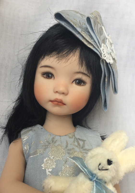 Ayla, 13 inches, is a porcelain cast from an Effner Little Darling #2 mold.