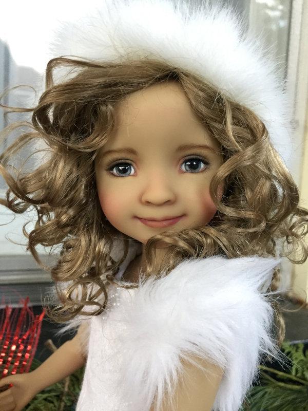 Bella, a repainted 14.5-inch Ruby Red Fashion Friend doll.