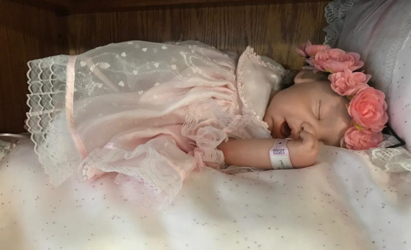 Brook, a OOAK baby doll by Pat Moulton.
