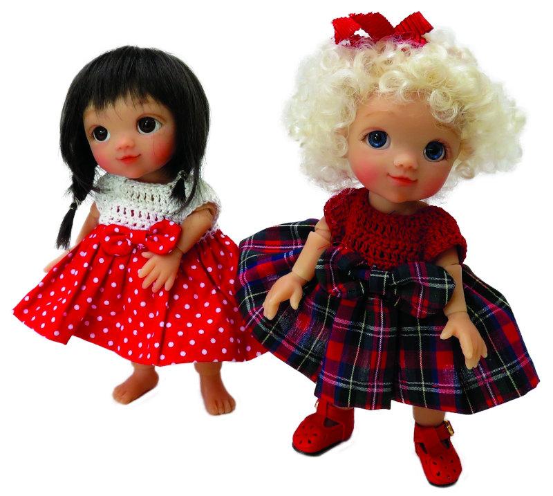 Moulton's Phoebe dolls are resin BJDs.