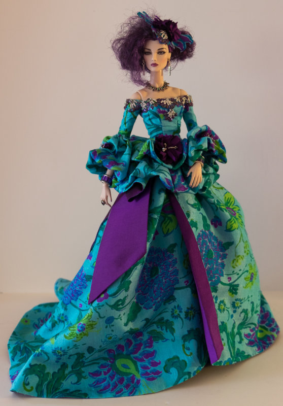 Purple Reign is Manley's customized Elise Jolie Malefique by Integrity Toys, from the company's 2017 convention.