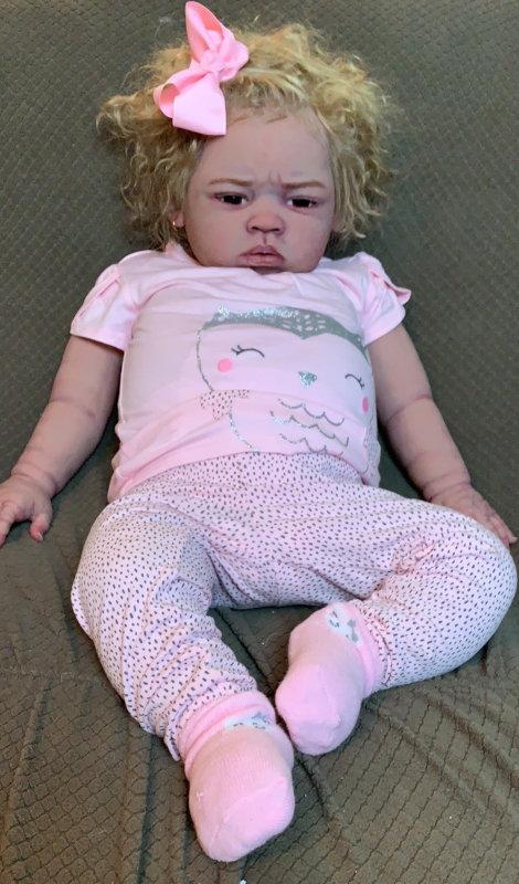 Raegyn, a silicone toddler doll.