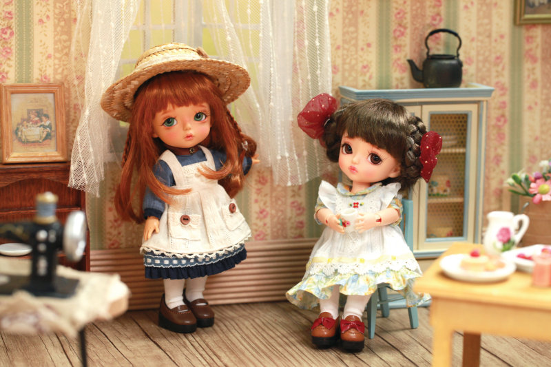 Anne of Green Gables ver. Cherry and Anne of Green Gables ver. Jenny are Yellow size (16 cm) dolls based on the characters of Anne and Diana from the classic novel.