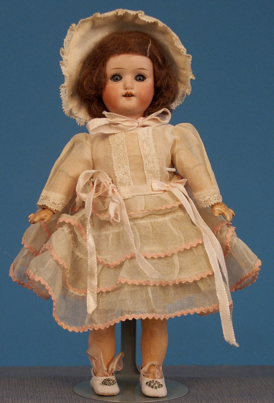 William Goebel bisque-head doll, 9.5 inches, on fully jointed composition-and-wood body. Photo courtesy of the Foulke Archives