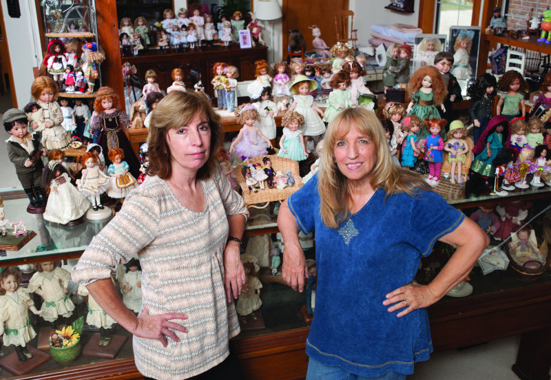 """""""The old Jamestown Mercantile houses The Doll Studio, where Geri Uribe (left) and I paint dolls, develop prototypes, and design new dolls,"""" Dianna Effner said. """"We have made hundreds of porcelain dolls over the past 25 years there."""""""