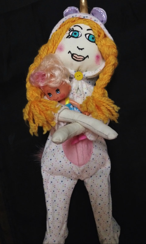 Harvey said she wants to find out what kind of dolls will make her collectors smile. Snuggle Doll is a sweet departure from her more terrifying tykes.