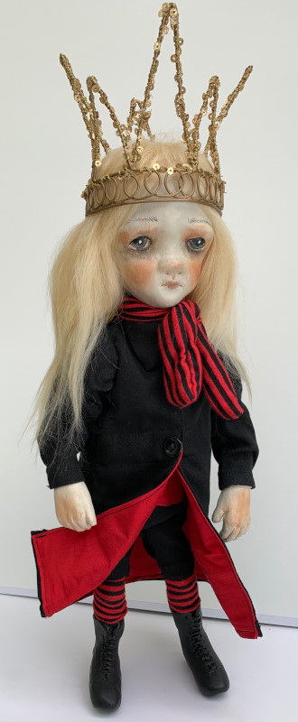 Victor, the Young Prince, 15 inches, is one of Nancy Latham's OOAK Wistful Children cloth dolls.