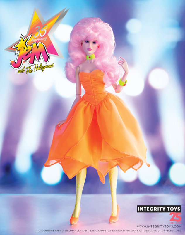 One of Integrity's licensed Jem and the Holograms dolls.