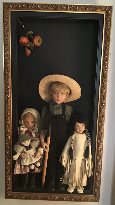 "Mary Basden: ""Kish dolls get ready for Thanksgiving."" (3 of 3)"