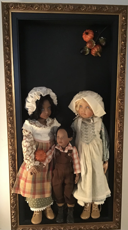"Mary Basden: ""Kish dolls get ready for Thanksgiving."" (2 of 3)"