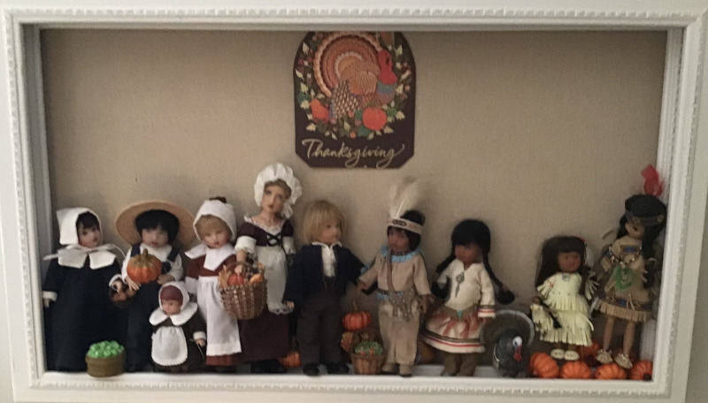 "Mary Basden: ""Kish dolls get ready for Thanksgiving."" (1 of 3)"