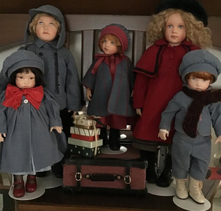 """Mary Basden: """"Kish dolls going to Grandma's for Christmas."""""""
