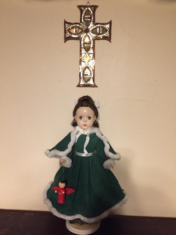 "Rose Engelhardt: ""Madame Alexander's Beth of Little Women going to church on Christmas."