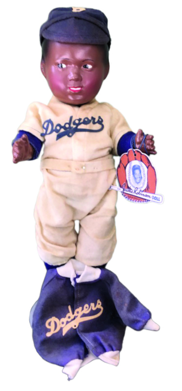 Jackie Robinson composition doll