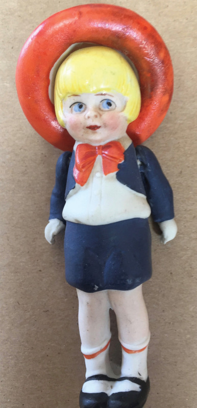 Perry Winkle comic strip character with removable hat, 4 inches tall.