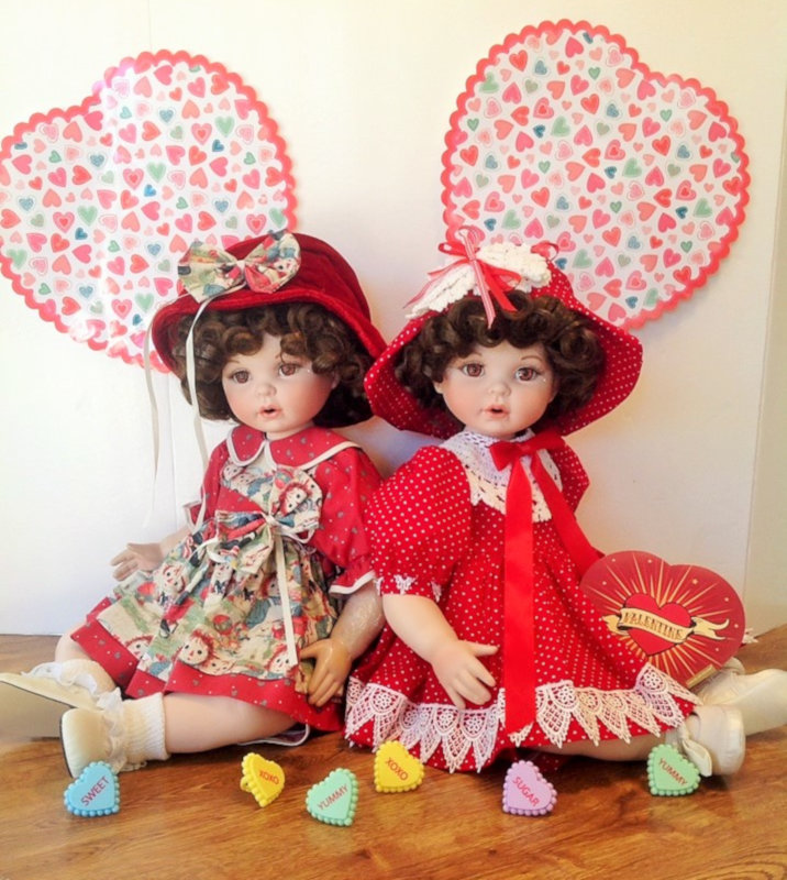 """Bernay Scott: """"Remember Me by Marie Osmond — twins dressed for Valentines."""""""