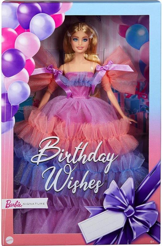 The packaging for Mattel's 2021 Birthday Wishes Barbie doll includes space for a personal message.