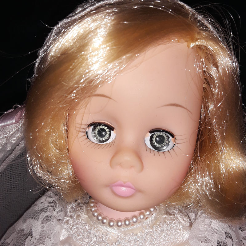 "A closeup of Madame Alexander's ""Sound of Music"" bride doll."
