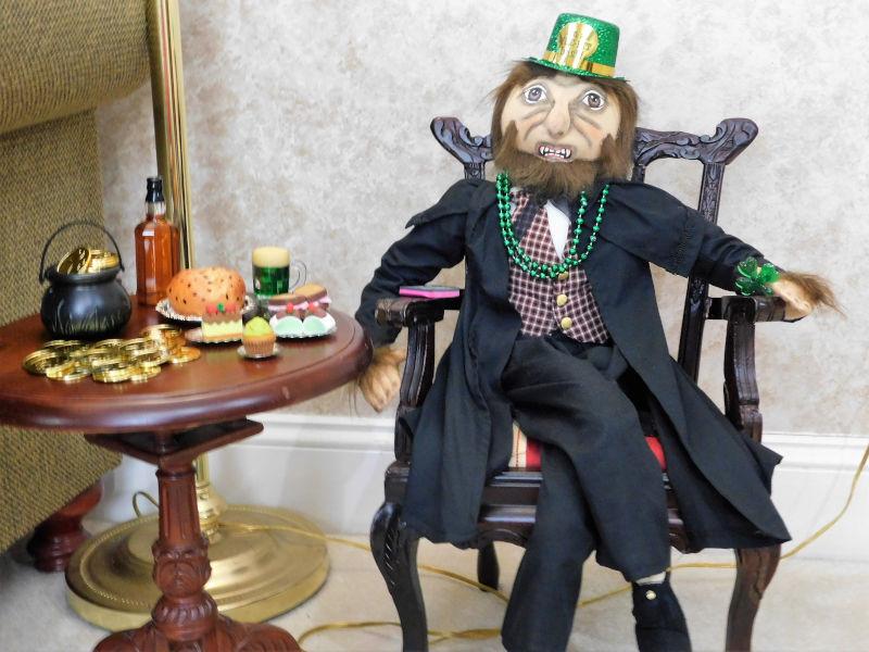 "Jacquelyn Graham-Dickson: ""Joe Spencer's Eddy Werewolf celebrating St. Patrick's Day."""