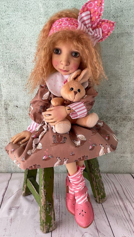 "Karen Kinyon: ""Connie Lowe's Ruth Ann in her bunny ensemble (made by me)."""