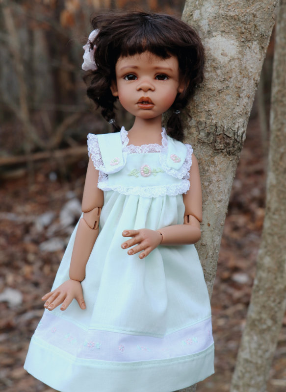 Anaya is a 17-inch BJD by Kaye Wiggs. A limited edition of 20 dolls cast in tan resin is available exclusively to DOLLS readers.