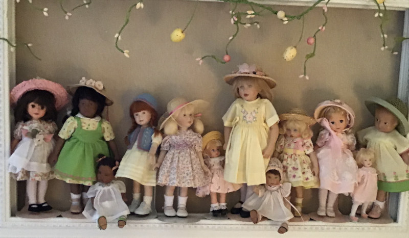 "Mary Basden: ""Little dolls are ready for Easter."" (1/2)"
