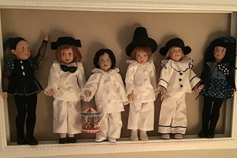 "Mary Basden: ""Kish dolls celebrate Mardi Gras and Carnival."""