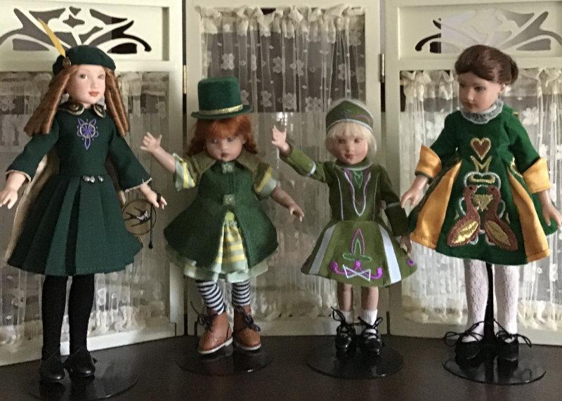 "Mary Basden: ""Kish dolls celebrating St. Patrick's Day."""