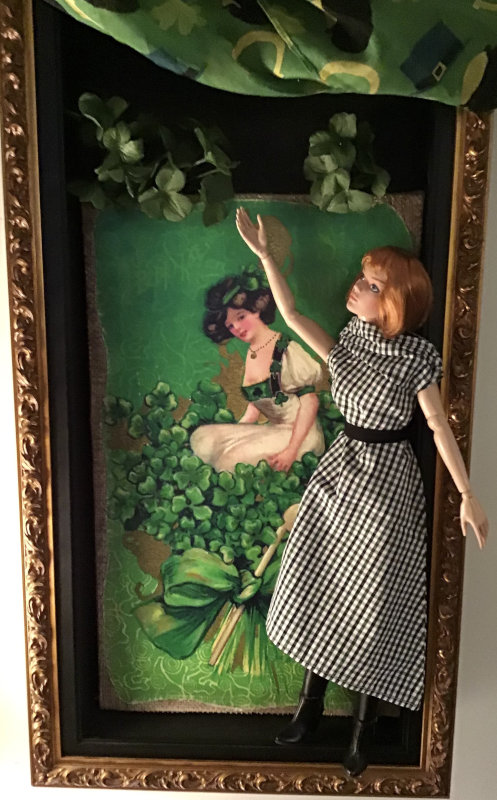 """Mary Basden: """"Tonner's VDC Amazing Grace decorates for St. Patrick's Day."""""""