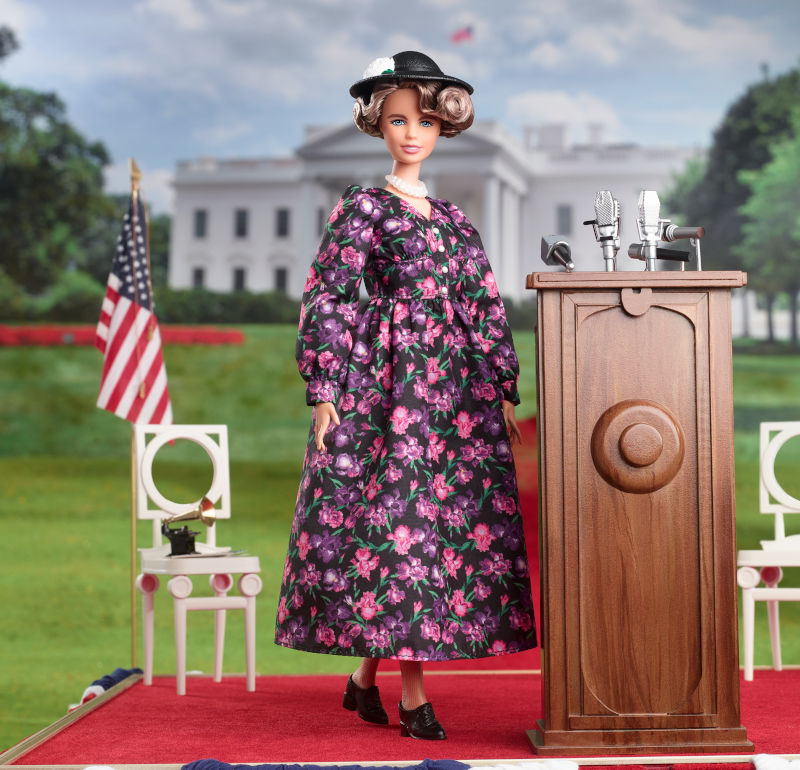 Former first lady Eleanor Roosevelt joins the ranks of Mattel's Inspiring Women dolls this year.