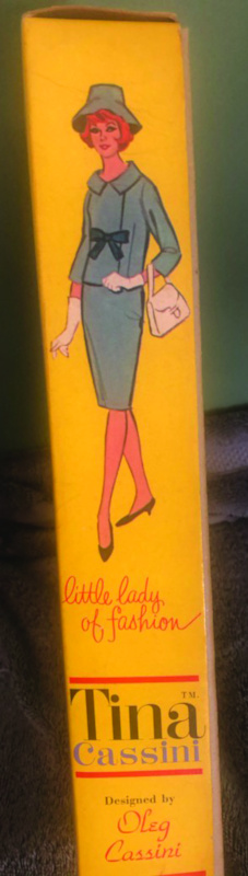 Tina Cassini doll box side