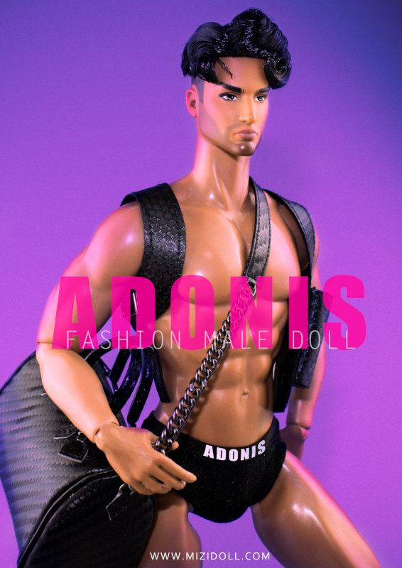 """JHD's male doll, Adonis. """"He is masculine and super charming,"""" Huadong said."""