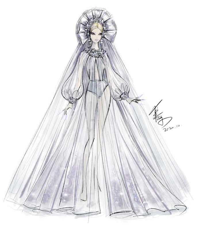 Huadong's original sketch for Mina.