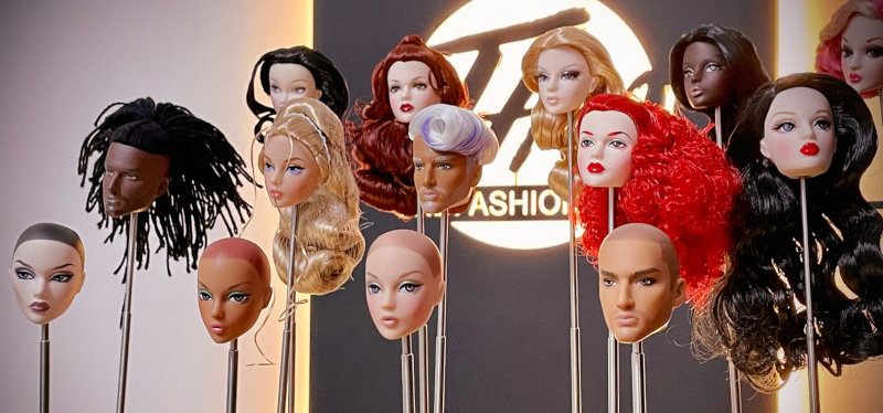 Huadong continually tweaks the facial sculpts for his Mizi and Adonis dolls.