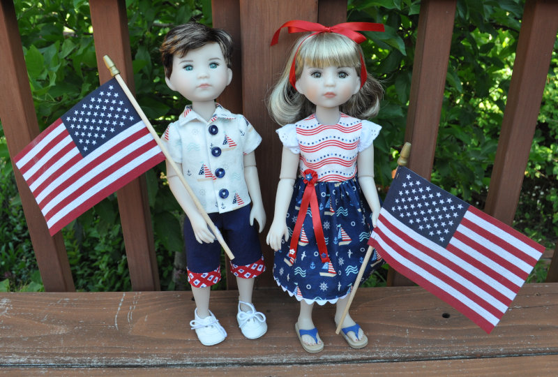 Joy Rose: Ruby Red Fashion Friends Luca and Daisy enjoy the 4th of July.