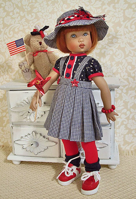 Janis Kiker: Bitty Bethany by Kish & Co. will be joining her friends for a fireworks display after the holiday parade!
