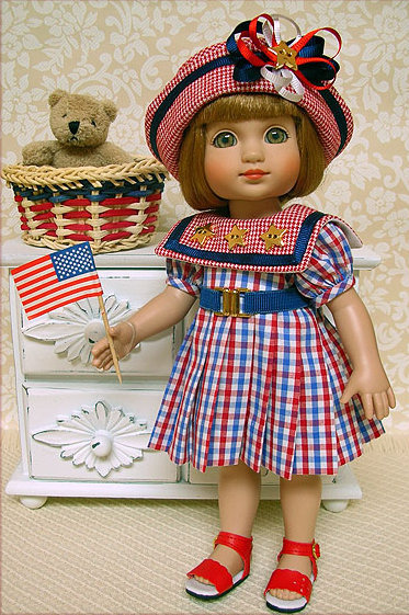 Janis Kiker: Sophie by Tonner has a busy day planned for this 4th of July.