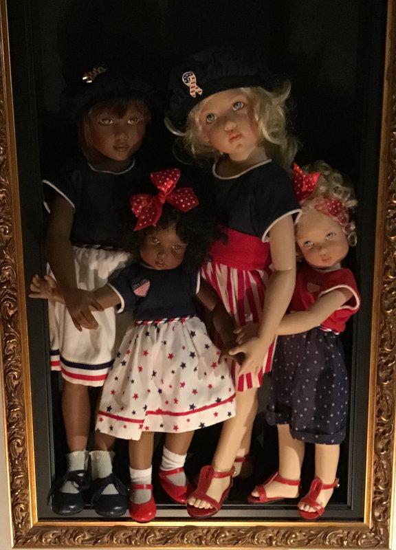 Mary Basden: Kish Dolls celebrate American Freedom.
