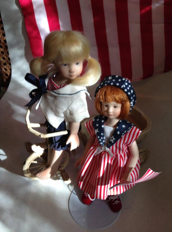 Mary Basden: Maciak dolls on the 4th of July.
